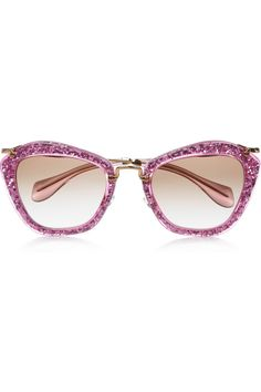 0b3e96b7c9 Miu Miu cat eye glittered acetate and metal sunglasses  http   rstyle.
