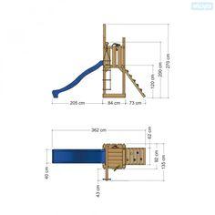 Klimtoren/speeltoestel met glijbaan Castle Minodor | Wickey.nl
