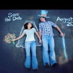 Save the date idea! - haa that's kind of cute