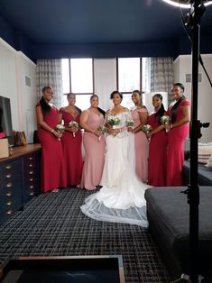 This dress is literally perfect. It runs true to size and it flattered each of my bridesmaids body type. My MOHs are in dusty rose and the bridesmaids are in burgundy. Crepe Dress, Chiffon Dress, Bridal Looks, Bridal Style, Dress For You, I Dress, Wedding Bridesmaids, Wedding Dresses, Style Finder