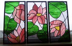Lotus Stained Glass Tryptych  -  amyorangejuice.wordpress.com