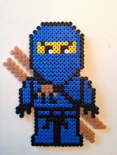 Billedresultat for lego ninjago perler beads Perler Bead Designs, Hama Beads Design, Perler Bead Templates, Pearler Bead Patterns, Perler Patterns, Quilt Patterns, Perler Beads, Fuse Beads, Hama Beads Coasters