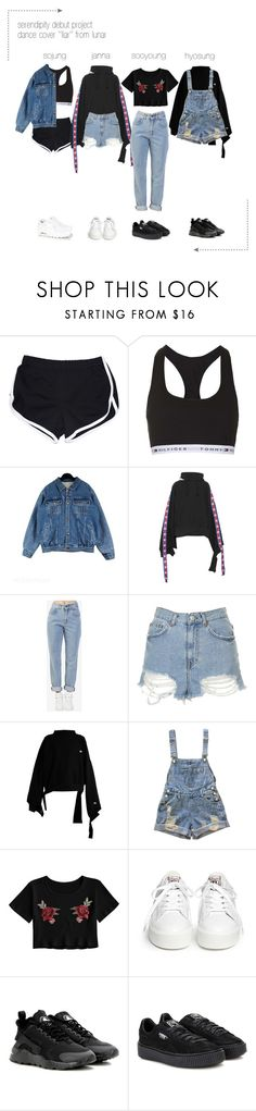 """""""━ serendipity ● ' l i a r ' d a n c e c o v e r / p r e d e b u t"""" by serendipityofficial ❤ liked on Polyvore featuring Topshop, Vetements, The Ragged Priest, Ash, NIKE and Puma"""