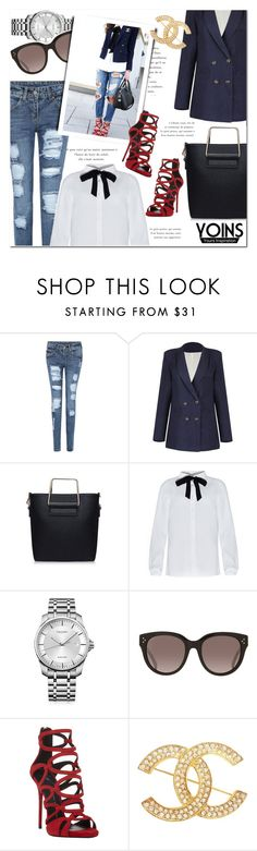 """""""Yoins Blouse"""" by bellasugar ❤ liked on Polyvore featuring Calvin Klein, CÉLINE, Giuseppe Zanotti, Chanel, women's clothing, women, female, woman, misses and juniors"""