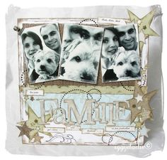 pet scrapbooking layout | family scrapbooking