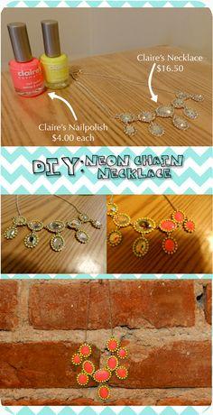 Fashionista New York Girl: DIY: Neon Necklace