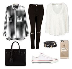 """""""Lucie"""" by mae-druine ❤ liked on Polyvore featuring Yves Saint Laurent, Casetify, Converse, Sequin, women's clothing, women's fashion, women, female, woman and misses"""
