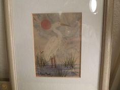 $18 2018 Anne Marie Solomon Watercolor Painting Crane numbered & signed | #1937241906 Vintage Art Prints, Solomon, Crane, Watercolor Paintings, Numbers, Artist, Watercolour Paintings, Watercolors, Watercolor Painting