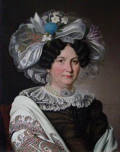 1830 Argunov , Yakov Argunov, portrait of a lady Female Portrait, Portrait Art, Female Art, Turbans, Arte Fashion, Costume Collection, Fashion Painting, Fat Women, Hat Hairstyles