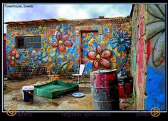 In South Africa's Soweto Township, a few years back. Out Of Africa, East Africa, Site Design, Middle East, Street Art, How To Draw Hands, Camps, World, Places