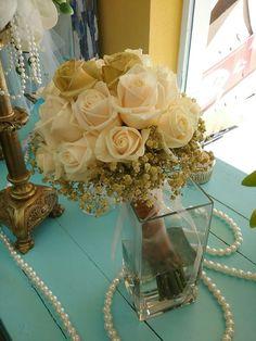 Wedding  bouquet gold 50 years