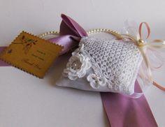 White crochet applique lavender sachet drawer by sevimboutique
