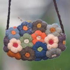 flower purse for women, crochet patterns - crafts ideas - crafts for kids