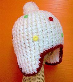 Ear Flaps Hat https://www.facebook.com/Shanny.Cafe.Crochet