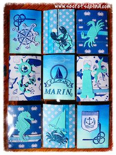 Pocket letter marin bleu sea blue #PocketLetter #Secretsdelina