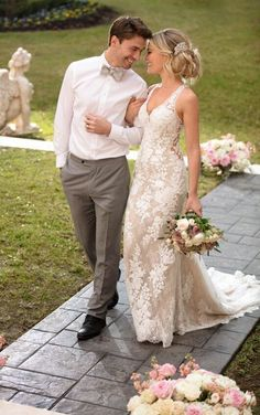 6933 Vintage Wedding Dress with Unique Lace Details by Stella York