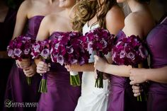 #purple #bridal #bouquets  More Wedding Ideas at www.facebook.com/villasiena