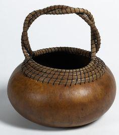 """*Gourd Art - """"Handled Gourd Basket"""" by Margaret Schultz"""