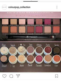 Colourpop dupes for the ABH modern renaissance pallette / Tube Photography Colourpop Dupes, Eyeshadow Dupes, Makeup Brands, Drugstore Makeup, Makeup Products, Colourpop Palette, Beauty Products, Makeup Inspo, Makeup Goals