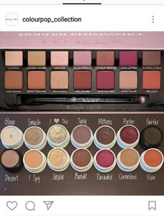 Colourpop dupes for the ABH modern renaissance pallette