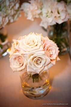 Small Entry Table Arrangement of Sahara Roses