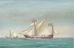 Un petit bateau de la mer Egée, utilisé pour kleptotelonia ou de contrebande    Ce magnifique bateau vintage impression obtenu une copie dun