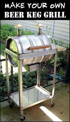 Give an Out-of-Service Beer Keg New Life by Converting it Into a Grill #beerkeg