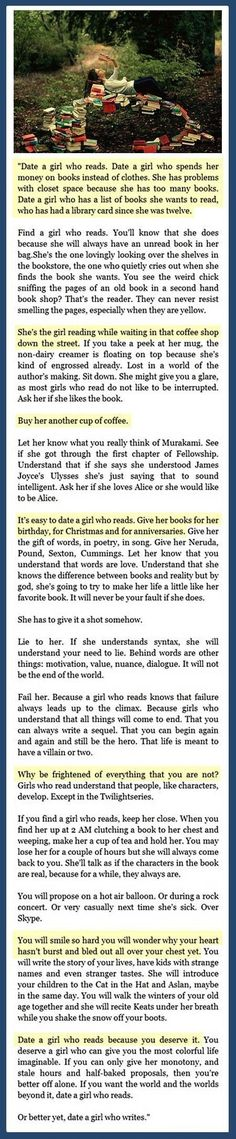 Date a girl who reads // funny pictures - funny photos - funny images - funny pics - funny quotes - #lol #humor #funnypictures