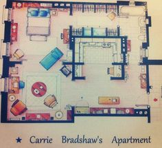 Carrie Bradshaw got it right, perfect amount of space and layout for one person.