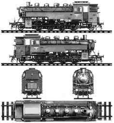 Blueprints > Trains > Trains A-B > (Steam Locomotive) Lego Trains, Old Trains, Train Drawing, Train Posters, Railroad Photography, Train Art, Train Engines, Ways To Travel, Steam Engine