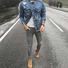 "Mode: ""Jacke: Zara Jeans: H & M Schuhe: Shoe The Bear mehr hier"" www . Dope Fashion, Hipster Fashion, Fashion Sale, Paris Fashion, Runway Fashion, Girl Fashion, Womens Fashion, Fashion Trends, Stylish Men"