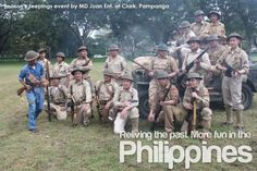 Re-enactors from the Philippine Scouts Heritage Society Fort (McKinley and Fort… Philippine Army, Bataan Death March, Military Jeep, Pray For Peace, Army Soldier, Book Illustrations, Military History, Us Army, Cops