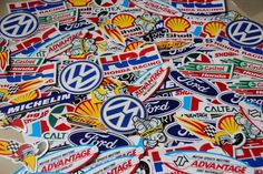 100 Motor Racing Sticker Decals worth over 200 pounds. Wholesale!Free Shipping. #Stickerdecalsworldwide