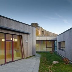 Timber clads interior and exterior of  Kleinkindhaus nursery in Germany