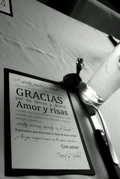 Tarjeta de agradecimiento para los invitados