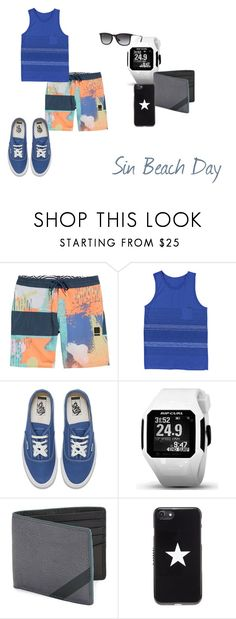 """""""Sin Beach Day"""" by hiitscait on Polyvore featuring Volcom, O'Neill, Vans, Rip Curl, FOSSIL, Givenchy, Ray-Ban, comfy, swimsuit and athletic"""
