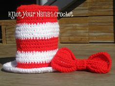 Knot Your Nanas Crochet: Top Hat with Bow Tie   FREE pattern