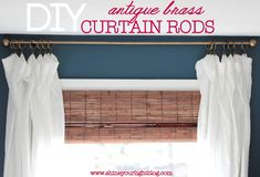 Shine Your Light: DIY Curtain Rods