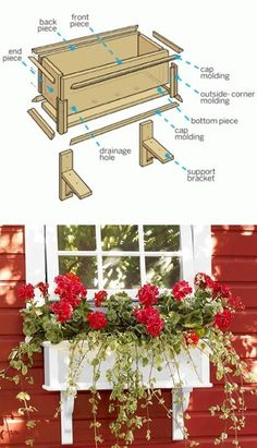 How to Build a PVC Window Box How to Build a PVC Window Box This Old House thisoldhouse Project of the Week Customize the size and color nbsp hellip fensterbank aussen This Old House, Outside Corner Moulding, Outdoor Projects, Diy Projects, Pvc Board, Window Planter Boxes, Window Box Diy, Wood Window Boxes, Window Box Flowers