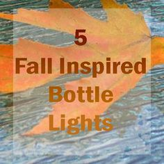 Creating unique decor with empty glass bottles, it doesn't even have to be a wine bottle, is super easy. Simply clean your empty bottle, add a few decorative touches and a light string and you'll have a fall decoration you can reuse for years to come. Fall Wine Bottles, Wine Bottle Display, Empty Glass Bottles, Painted Wine Bottles, Lighted Wine Bottles, Bottle Lights, Bottle Lamps, Decorated Bottles, Recycled Bottle Crafts