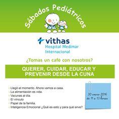 #SábadoPediátrico apúntate el próximo 30/01 a esta interesante sesión para padres. Intervendrán: Dr. Antonio Redondo, Pediatra en Hospital Medimar y Andrea Vizcaíno, psicóloga de Psicoactúa.