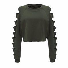 Ripped Crop Sweatshirt