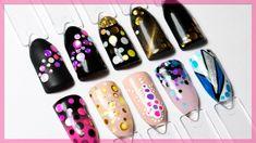 10 ИДЕЙ с КАМИФУБУКИ для ногтей. Маникюр конфетти, дизайн ногтей камифубики