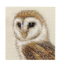 counted+cross+stitch | BARN OWL ~ Bird, Complete counted cross stitch kit | eBay