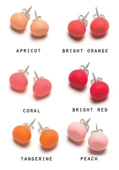 Image of RED AND ORANGE TONE STUDS