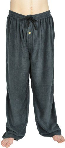 Alki`i Cotton elastic draw string with back pocket lounge polar fleece pajama pants with button fly, many colors $10.99