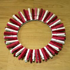 Simple clothes pin wreath tutorial                                                                                                                                                                                 More