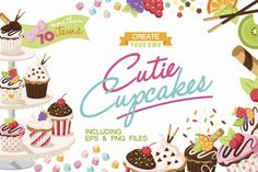 Only $1 for a limited time! Cutie Cupcakes By TWB Supply co.