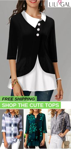 Shop Womens Fashion Tops, Blouses, T Shirts, Knitwear Online Stylish Outfits, Fall Outfits, Cute Outfits, Fashion Outfits, Womens Fashion, Fashion Trends, Womens Trendy Tops, Mode Hijab, Cute Tops