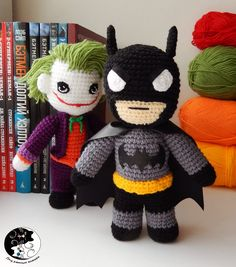 Batman Amigurumi - Crochet Doll - DC Comics - Knitted Superhero